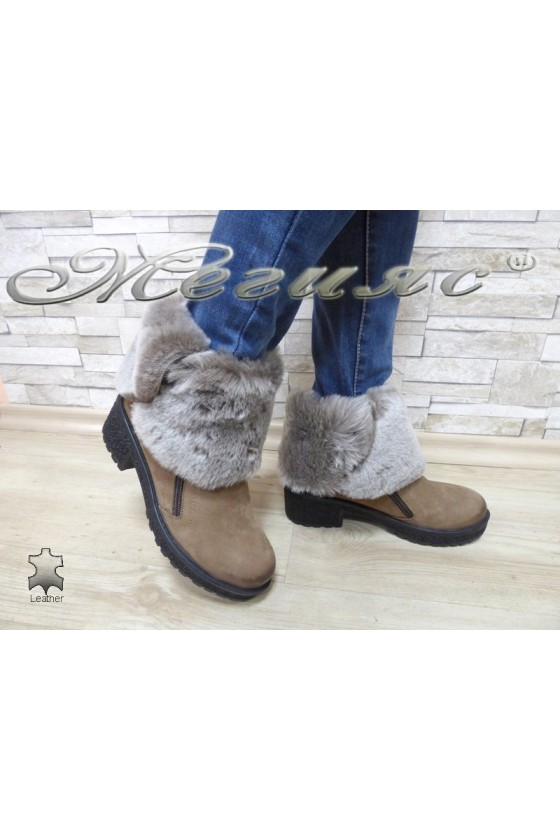 Lady boots 605 beige suede