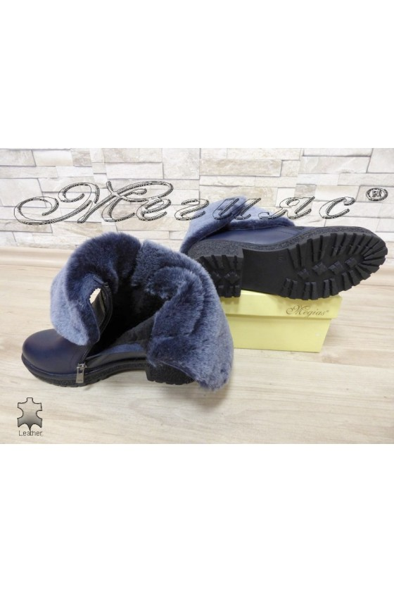 Lady boots 605 blue leather