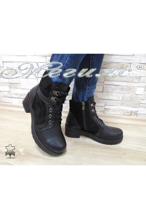Lady boots 63-14 black leather