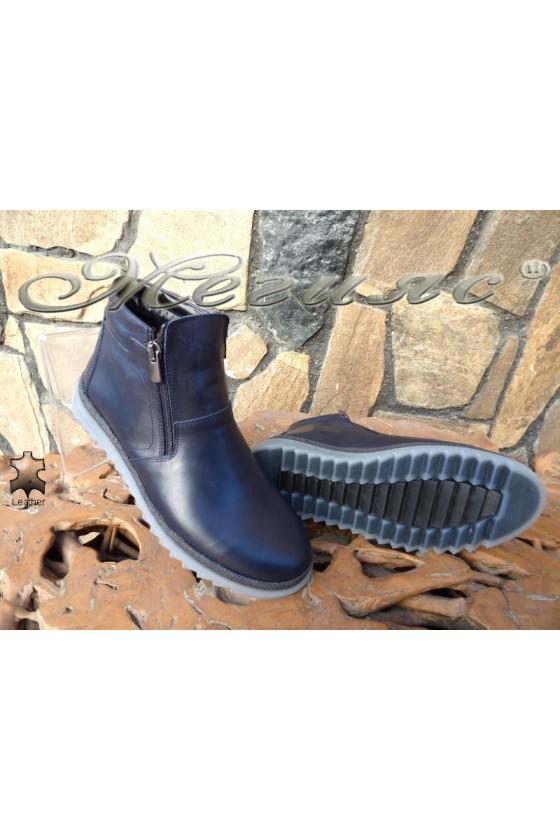 Men's boots 14900 blue leather