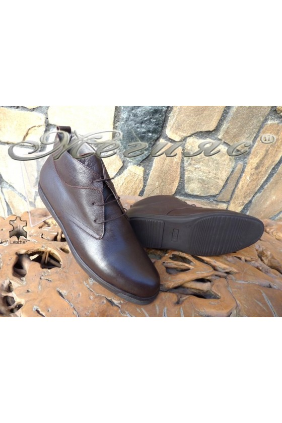 Men's boots  XXL 030 brown leather
