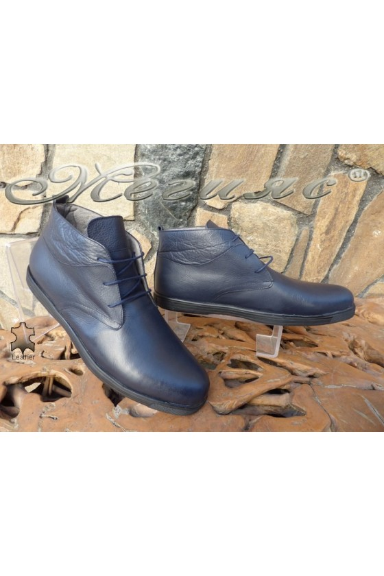 Men's boots XXL 030 blue leather
