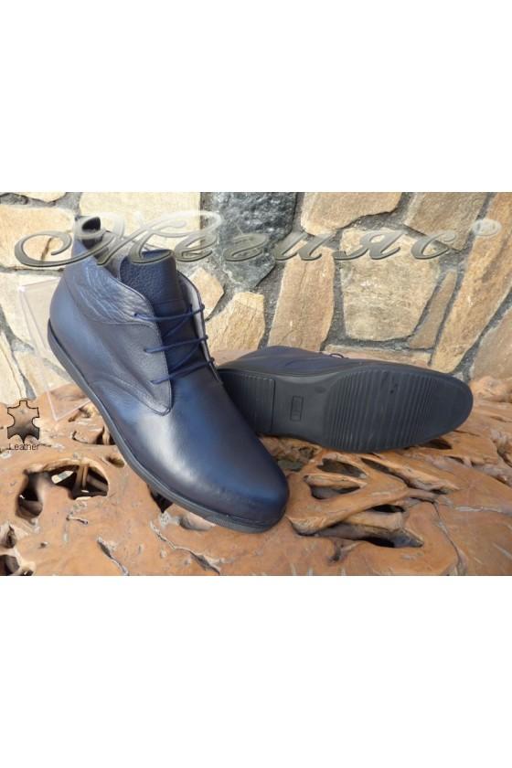 Men's boots  XXL 030 blue leather
