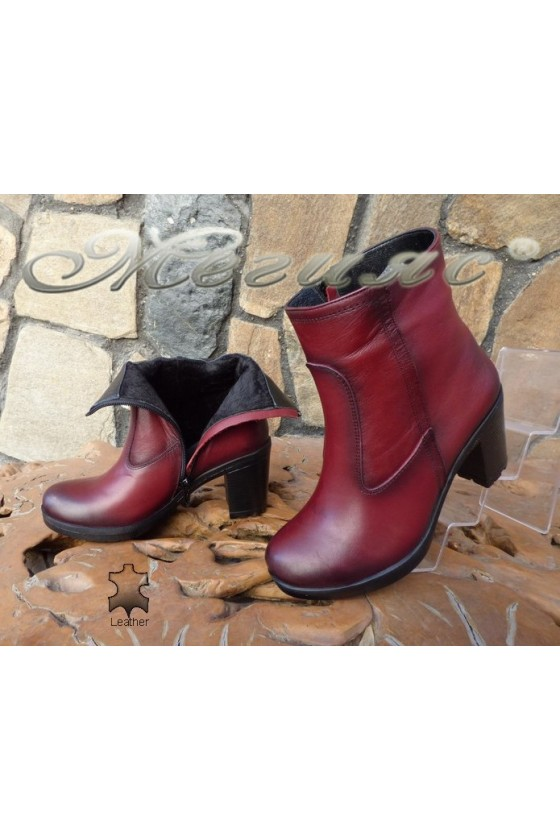 Lady boots 5442 bordo leather