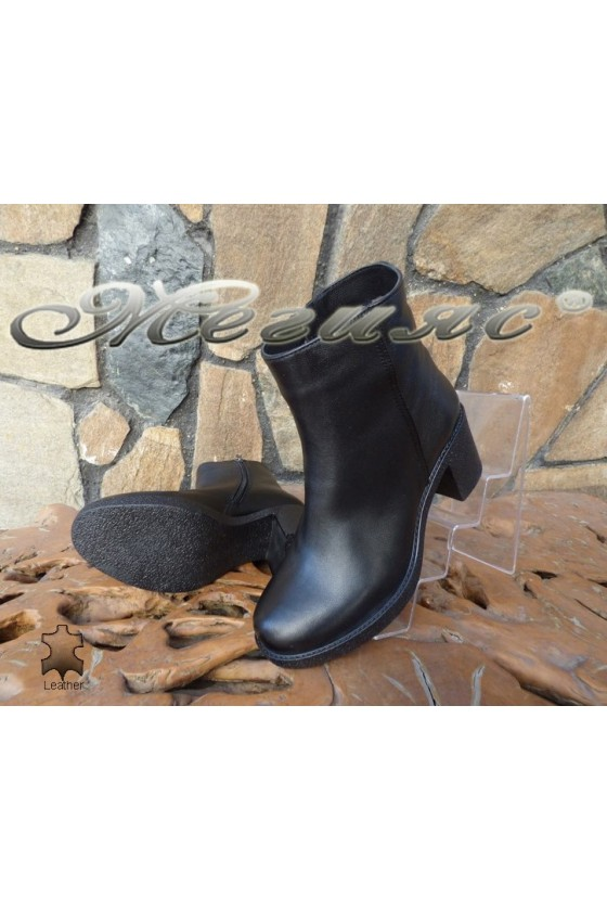 Lady boots 7324 black leather