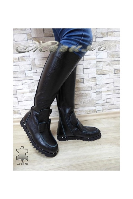 Women boots 785 black leather