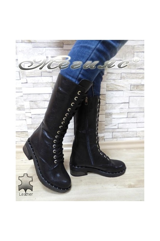 Lady boots 01-826-17101 black leather