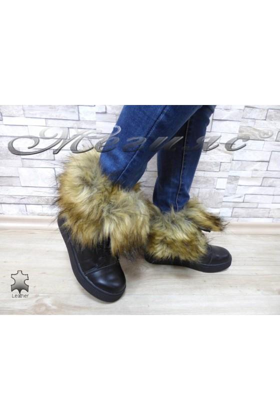 Lady boots Cassie 18-2765 black pu