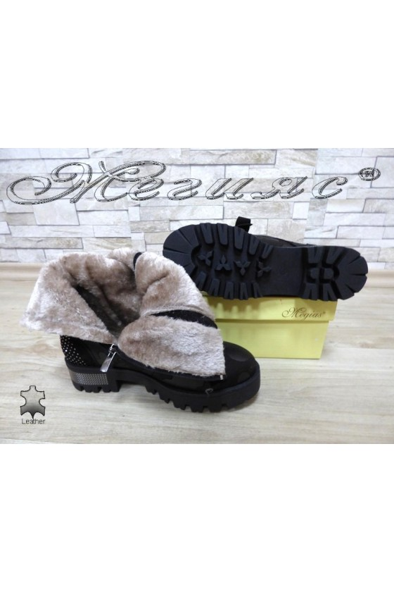 Women boots 028-039 black leather