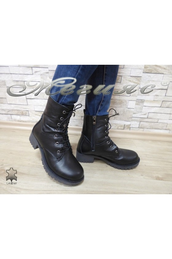 Women boots 911-01 black leather