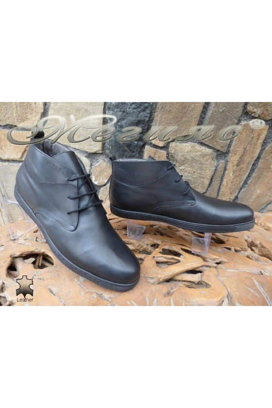 Men's boots XXL 030 black leather