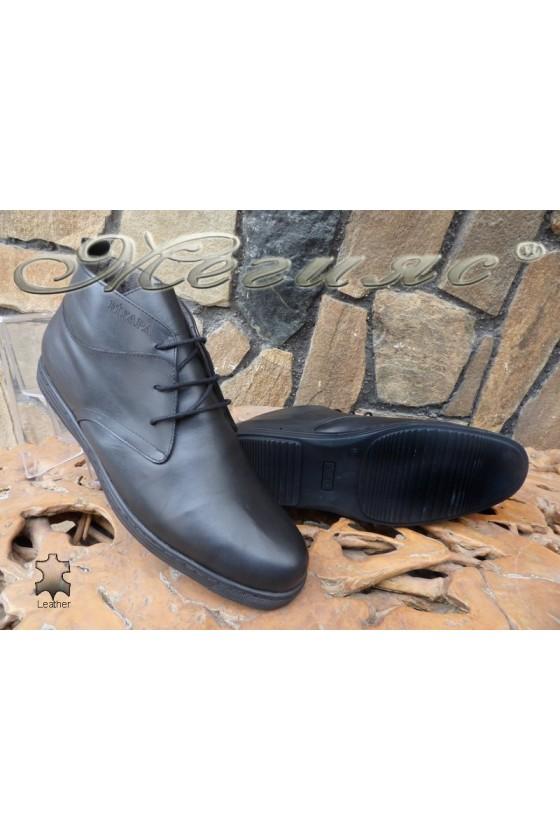 Men's boots XXL 030 black leather