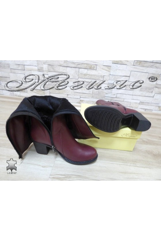 Women boots 901 wine lether
