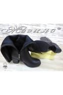 Дамски ботуши 901 черни от естествена кожа