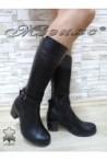 Дамски ботуши 920 черни от естествена кожа