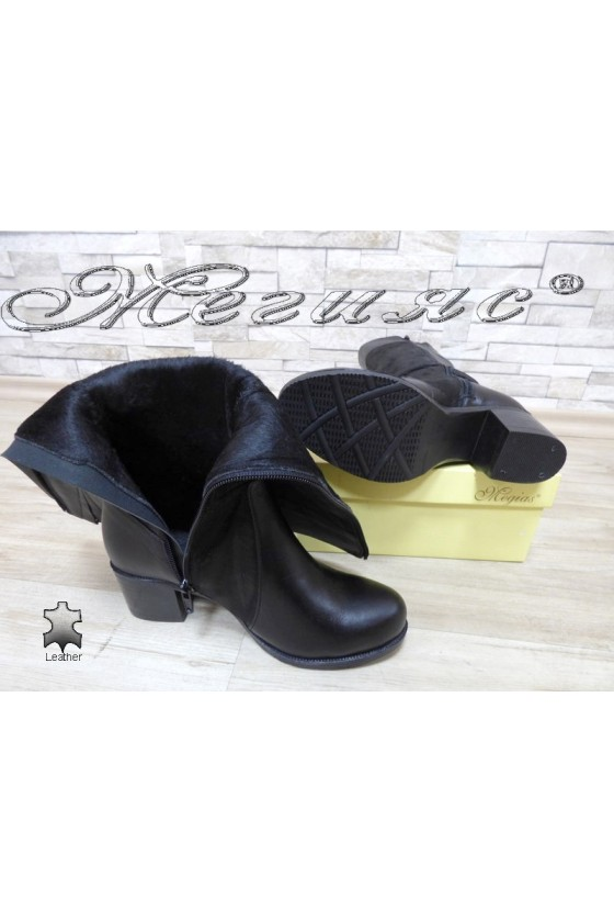 Women boots 920 black leather