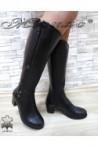 Дамски ботуши 825 черни от естествена кожа