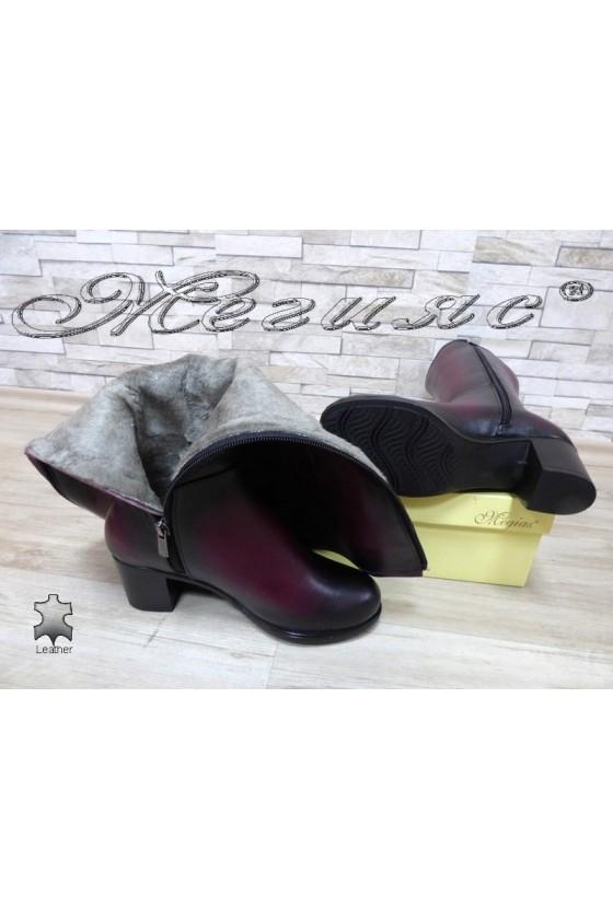 Women boots 825 bordo leather