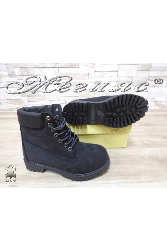 Lady boots  02 black suede leather