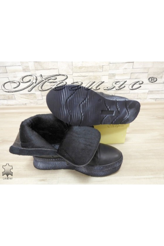 Women boots 4146 black leather