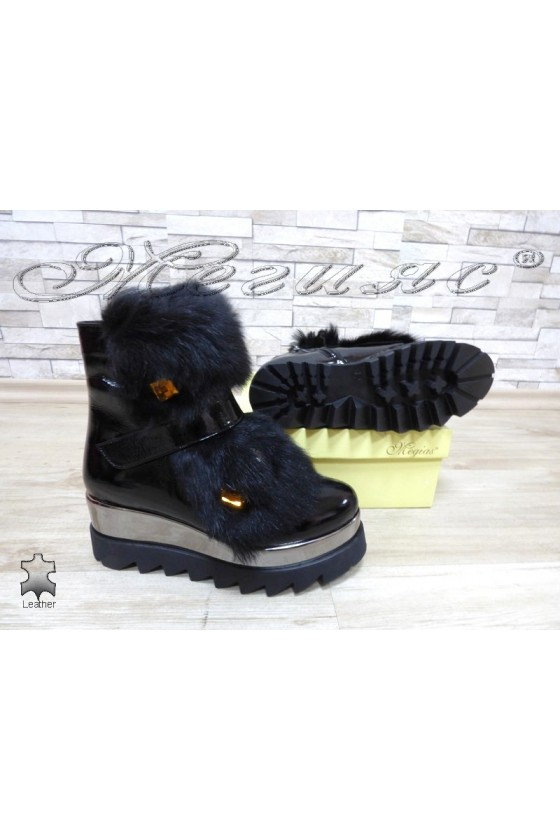 Lady boots  100/5000 black leather