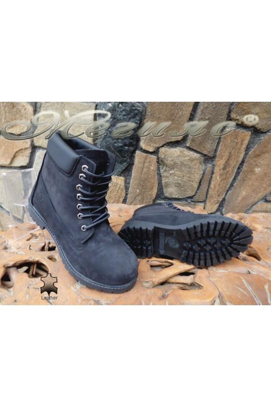 Men's boots 01 black leather
