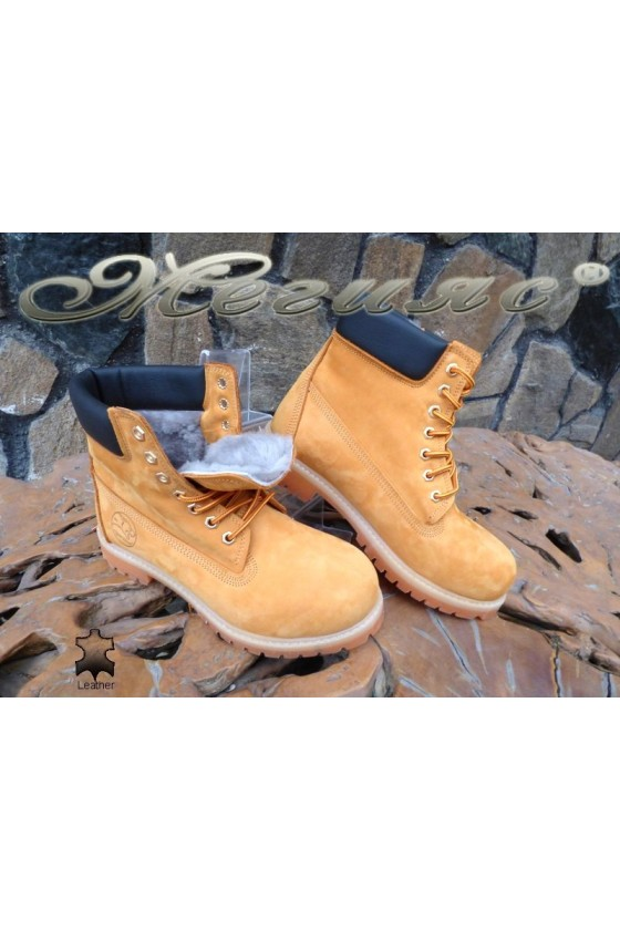 Men's boots 01 yellow leather