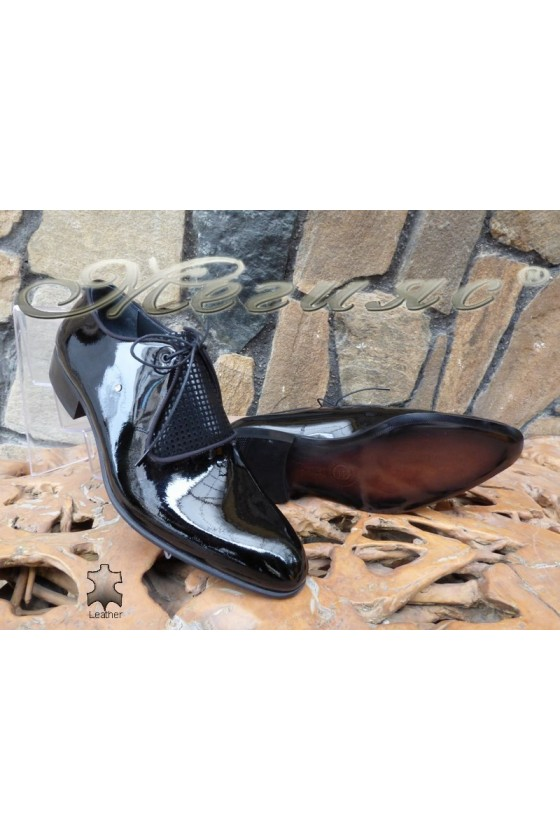Men's elegant shoes DAF 9203 black leather