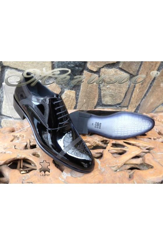 Men's elegant shoes  DAF 4403 black leather