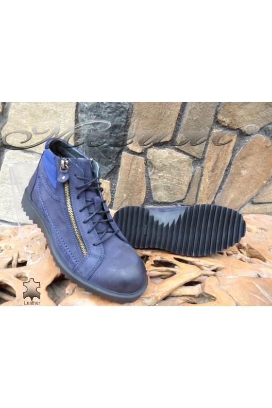 Men's boots 1994/7202 blue leather