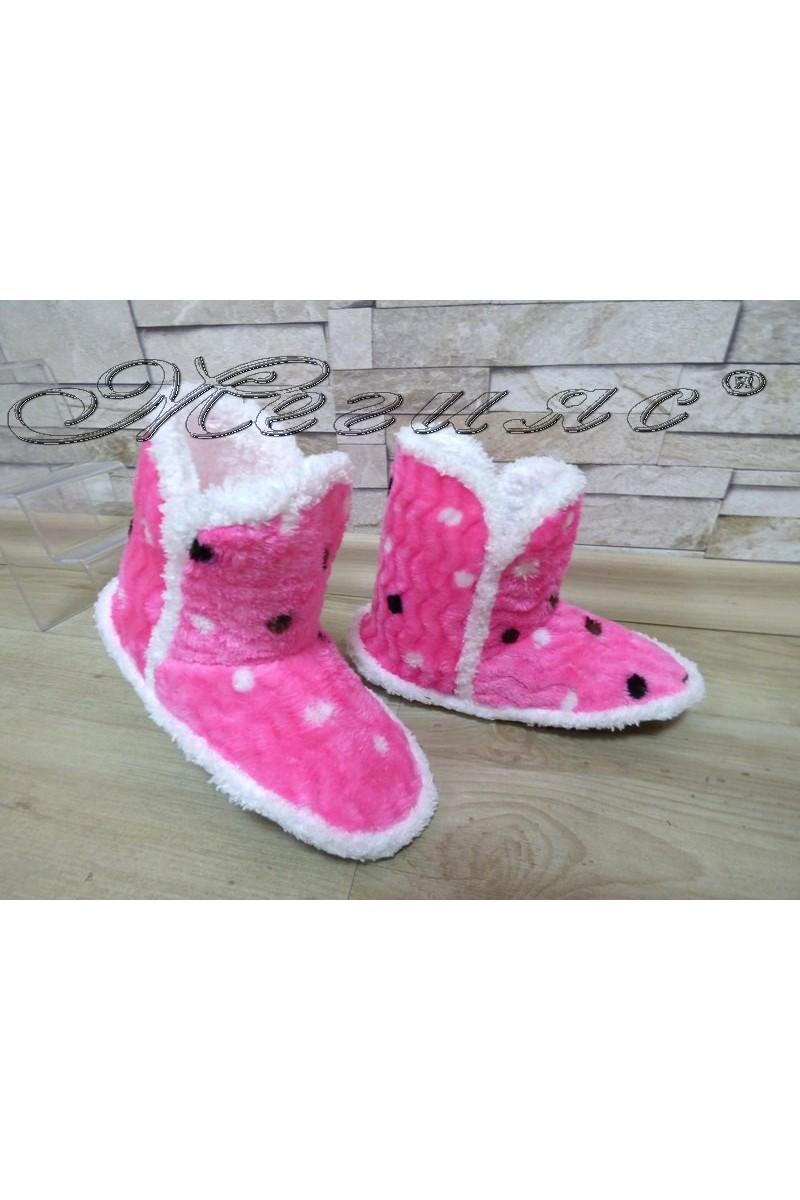 Детски пантофи 99 точки розови