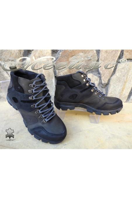 Men's boots 823744 khaki+black suede