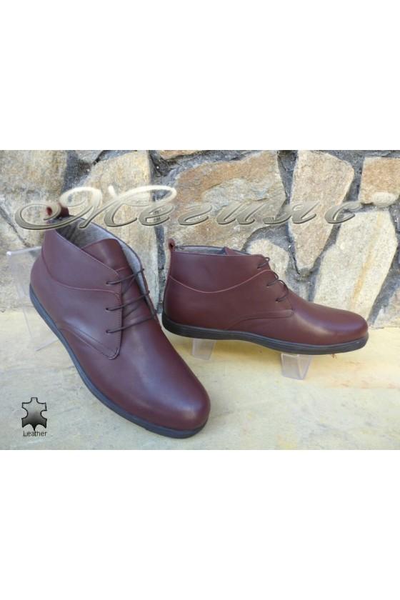 Men's boots  XXL 030 wine leather