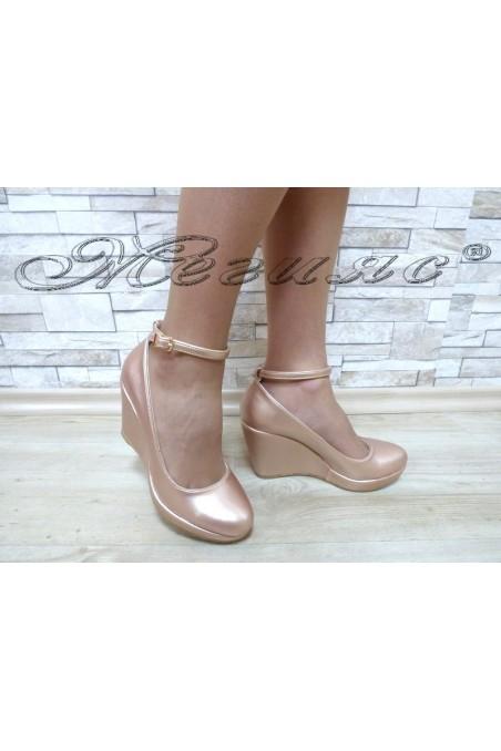 Lady platform shoes 0215 pudra pu