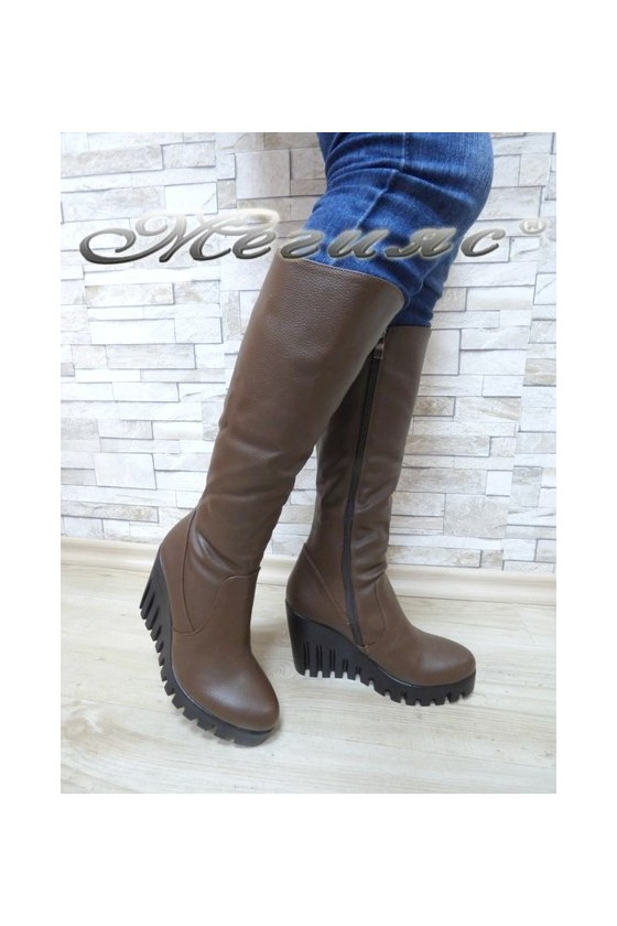 Women boots 150 brown pu
