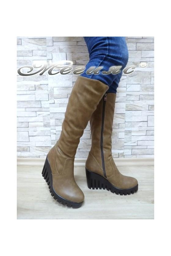 Women boots 150 vizon pu