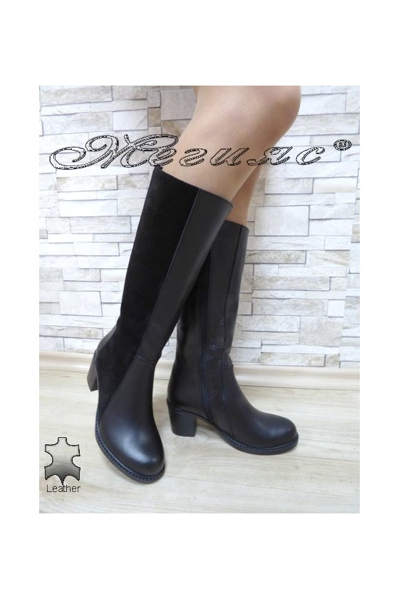 Women boots 901 black leather
