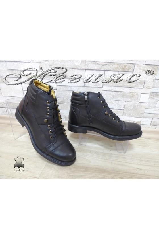Men's boots 2552 black leather