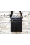 Мъжка чанта 8022-1 черна от еко кожа