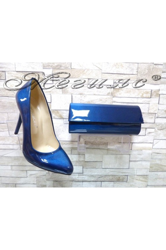 Women elegant shoes 162 blue with 373