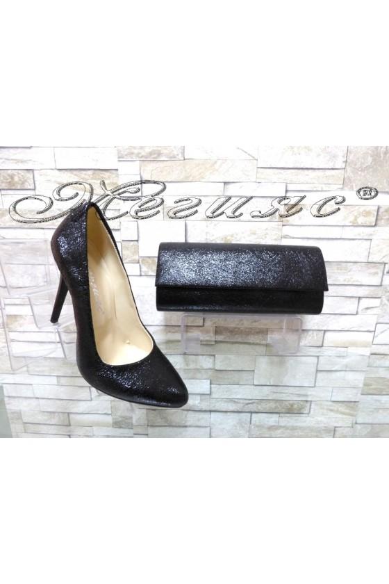 Women elegant shoes 162 black with 373