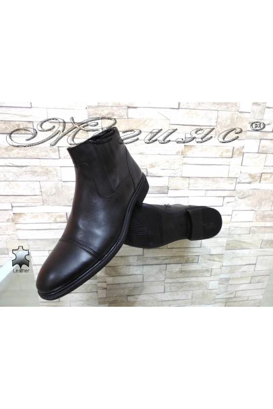Men's boots 14814 black leather