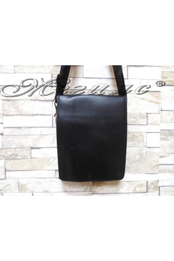 Мъжка чанта 8022-2 черна от еко кожа
