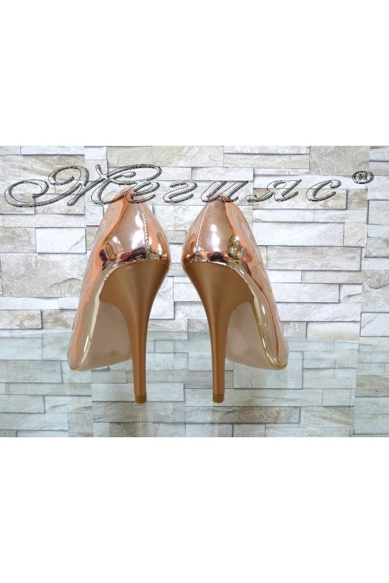 Дамски обувки 1413 бакър лак