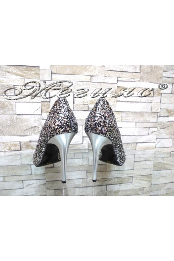 Lady elegant shoes 162 grafit with high heel