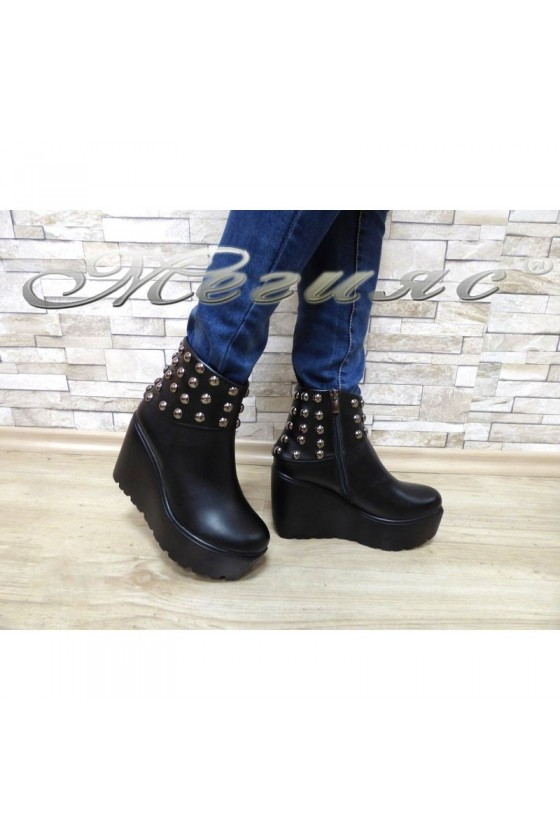 Women boots 933 black leather
