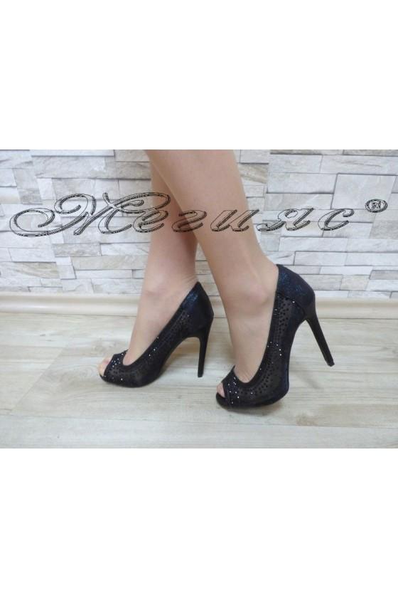 Дамски обувки Jeniffer 18s20-124 черни елегантни на висок ток