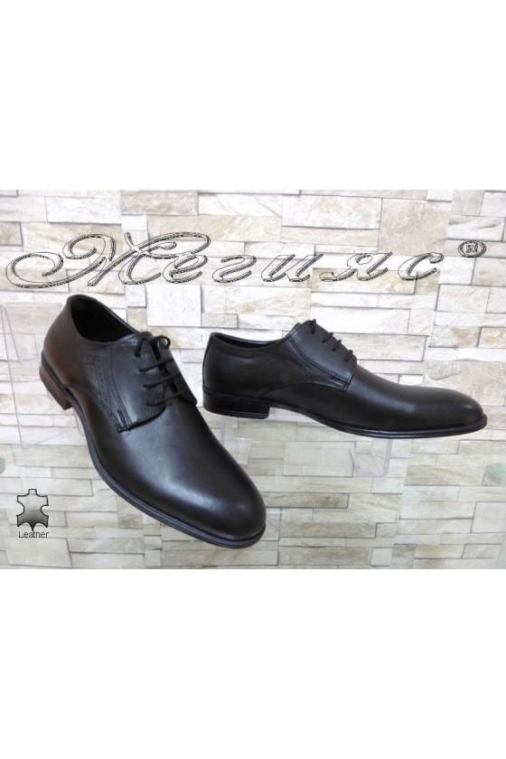 Мъжки обувки АТО 2098 черни естествена кожа
