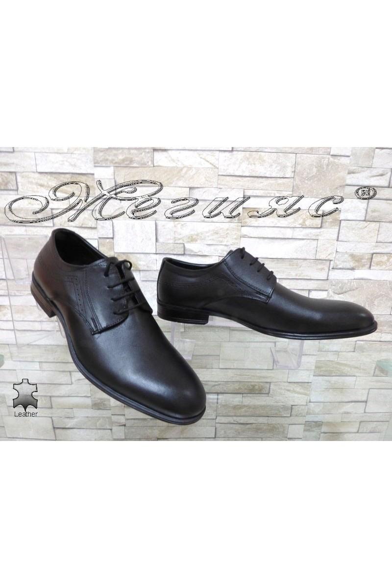 Men's elegant shoes ATO 2098 black leather