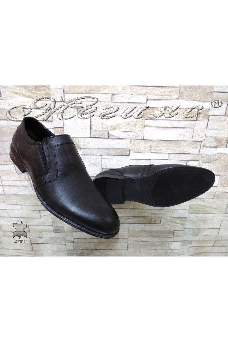 Men's elegant shoes ATO 2102 black leather